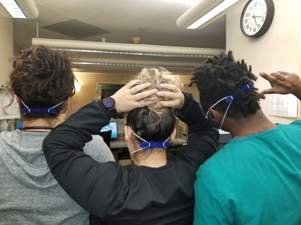 Nurses wearing Ear Savers